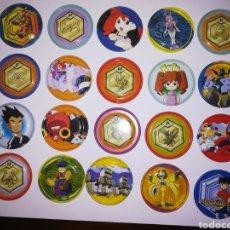 Juguetes antiguos y Juegos de colección: TAZOS METALICOS METAL RAPPERS PROMOCIONALES AÑOS 90 MEDABOTS PREMIUM. Lote 177733850