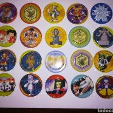 Juguetes antiguos y Juegos de colección: TAZOS METALICOS METAL RAPPERS PROMOCIONALES AÑOS 90 PREMIUM MEDABOTS. Lote 177734063