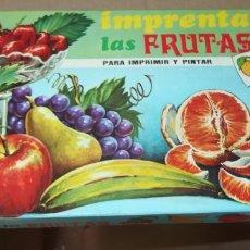 Juguetes antiguos y Juegos de colección: IMPRENTA DE LAS FRUTAS,JUGUETES PIQUÉ,CAJA ORIGINAL,AÑOS 60. Lote 178223261