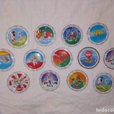 Juguetes antiguos y Juegos de colección: LOTE TAZOS METAL RAPPERS MAGIC BOX INT. - DEPORTES, JUEGOS OLÍMPICOS.... Lote 178315236