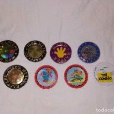 Juguetes antiguos y Juegos de colección: LOTE TAZOS METAL RAPPERS MAGIC BOX INT. - TOI, 100 % METAL, SKATE.... Lote 178315365