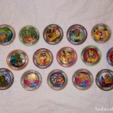 Juguetes antiguos y Juegos de colección: LOTE TAZOS RAPPERS SHLAK SKS OFFICIAL LEAGUE SERIES Nº 1 - 1997 - MONSTRUOS. Lote 178315725