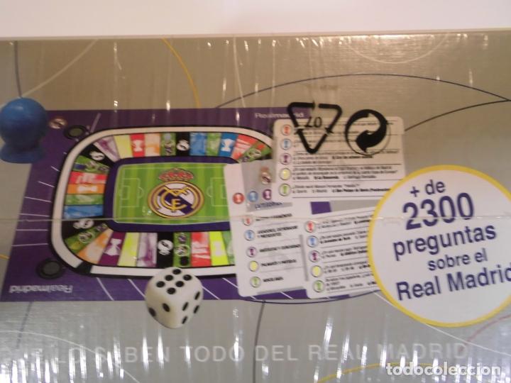 Juguetes antiguos y Juegos de colección: JUEGO OFICIAL DE PREGUNTAS DEL REAL MADRID - BORRAS - Foto 2 - 178357293