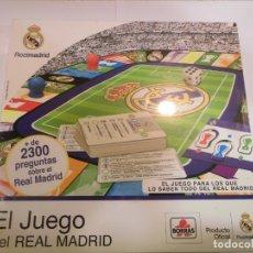 Juguetes antiguos y Juegos de colección: JUEGO OFICIAL DE PREGUNTAS DEL REAL MADRID - BORRAS. Lote 178357293