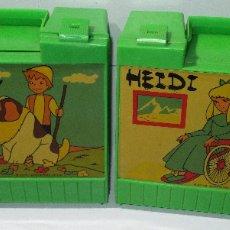 Juguetes antiguos y Juegos de colección: 2 PORTA ALMUERZO MERIENDAS ESCOLAR HEIDI AÑOS 80 NUEVAS. Lote 178824336