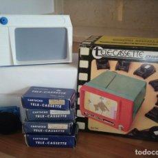 Juguetes antiguos y Juegos de colección: TELE CASSETTE DE PACTRA CON 5 PELICULAS, EN SU CAJA ORIGINAL. VER FOTOS. . Lote 179087210
