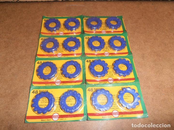 Juguetes antiguos y Juegos de colección: LOTE BLISTER TIROS RIS PARA PISTOLA JUGUETE FULMINANTES PISTONES AÑOS 70 - Foto 4 - 179189485