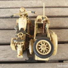Juguetes antiguos y Juegos de colección: ANTIGUA MOTOCICLETA CON SIDECAR BMW POLISTIL MS110 R75 - MADE IN ITALY -. Lote 180281335