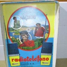 Juguetes antiguos y Juegos de colección: WALKIE TALKIES RADIO COMAND RADIOCOMAND RADIOTELEFONO BIANCHI SAN SEBASTIAN. Lote 180505980