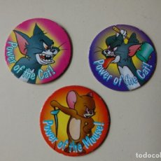 Jouets Anciens et Jeux de collection: LOTE 3 TAZOS TOM AND JERRY Nº 22 28 Y 33 CAPS TAZO CAP. Lote 182089911