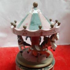 Juguetes antiguos y Juegos de colección: BONITO CARRUSEL TÍO VIVO EN MADERA CON CABALLITOS LLEVA 4 CABALLITOS. Lote 182424508