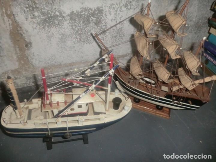 Juguetes antiguos y Juegos de colección: LOTE DE TRES MAQUETAS DE BARCOS PESQUEROS ETC - Foto 3 - 182727631