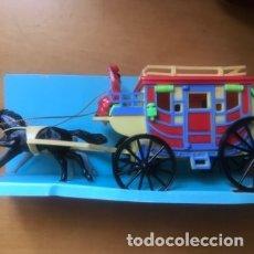 Juguetes antiguos y Juegos de colección: ANTIGUA CARRETA JUGUETE HUCHA. Lote 182906460