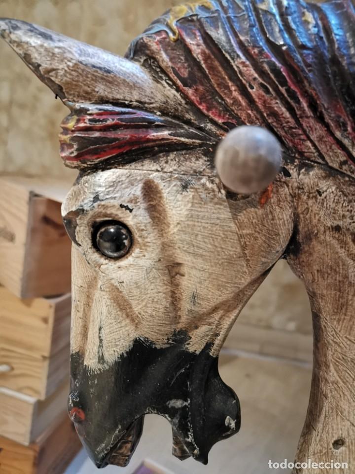 Juguetes antiguos y Juegos de colección: Caballo balancín antiguo - Foto 3 - 182941533