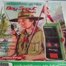 Juguetes antiguos y Juegos de colección: RADIOTELEFONO SIN HILOS /WALKIE TALKIE / BOY SCOUT / COMANDO / DE PACTRA /EXCELENTE ESTADO /COMPLETO. Lote 182951050