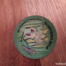Juguetes antiguos y Juegos de colección: TAZO POKEMON HOLOGRAFICO 3 CHIKORITA - BAYLEEF - MEGANIUM. Lote 183609677