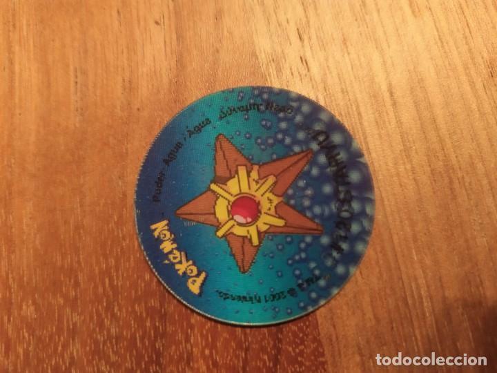 TAZO POKEMON HOLOGRAFICO 2 STARMIE - STARYU (Juguetes - Varios)