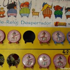 Juguetes antiguos y Juegos de colección: LOTE DE RELOJES DESPERTADORES. VAMOS A LA CAMA. GUISVAL. 127. Lote 184106902