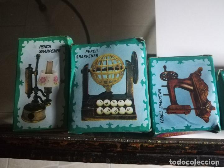 Juguetes antiguos y Juegos de colección: IMPRESIONANTE COLECCIÓN ANTIGUAS MINIATURAS DE HIERRO, DIE-CAST. ANTIQUE FINISHED. PENCIL SHARPENER. - Foto 4 - 184324075