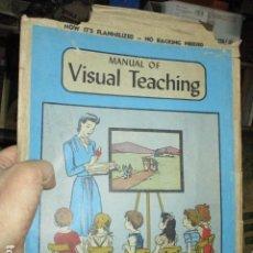 Juguetes antiguos y Juegos de colección: JUGUETE ANTIGUO DE RECORTABLES MANUAL VISUAL OF TEACHING JUEGO ANTIGUO INCOMPLETO. Lote 26336840