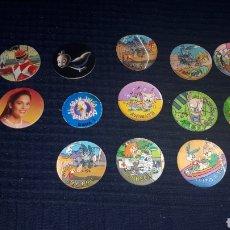 Juguetes antiguos y Juegos de colección: LOTE 14 TAZOS POWER RANGERS CASPER JUEGO DE LA OCA MAGIC TAZOS VARIAS MARCAS. Lote 184610992
