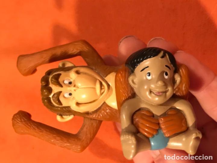Juguetes antiguos y Juegos de colección: Mowgli juguete cuerda manual giratorio brazos mono niño 2003 juguete mac donalds libro de la selva - Foto 4 - 185731698
