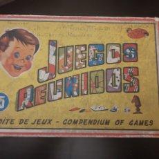 Juguetes antiguos y Juegos de colección: JUEGOS REUNIDOS GEYPER 15 VERSION MINI BOITE DE JEUX COMPENDIUM OF GAMES AÑOS 60. Lote 191713597