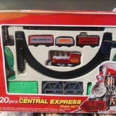 Juguetes antiguos y Juegos de colección: MOONBO 20 PIEZAS CENTRAL EXPRESS TRAIN SET. TREN EXPRESS. Lote 191745966