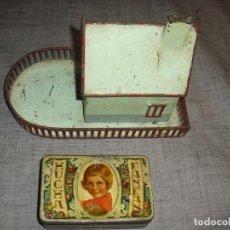 Juguetes antiguos y Juegos de colección: LOTE DE DOS HUCHAS UNA CREO AUXILIO SOCIAL MISIONES OTRA REGALO BOMBONES AÑOS VEINTE. Lote 192077145