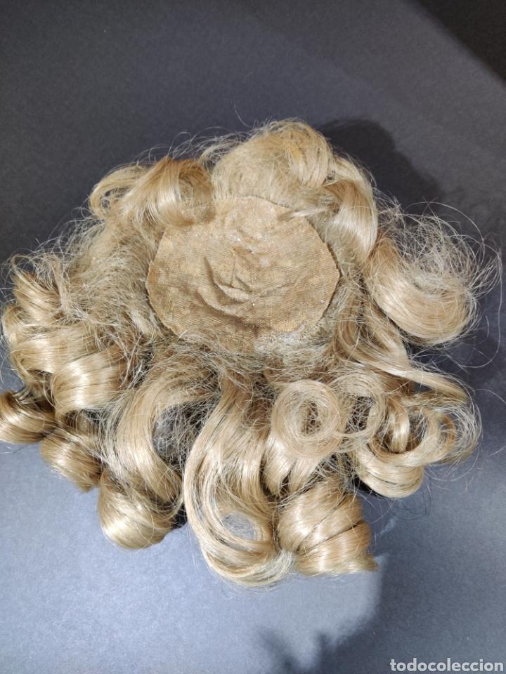 Juguetes antiguos y Juegos de colección: Peluca sintética de muñeca antigua - Foto 2 - 192751443