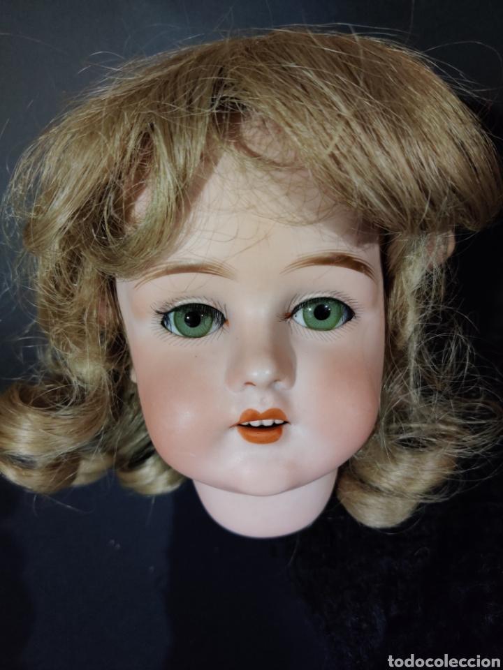 Juguetes antiguos y Juegos de colección: Peluca sintética de muñeca antigua - Foto 3 - 192751443
