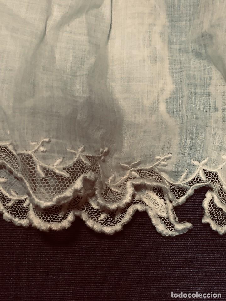 Juguetes antiguos y Juegos de colección: vestido blusa gasa tul puntilla bordado motivos florales boton francia españa F S XIX 28x23cm - Foto 8 - 193018343