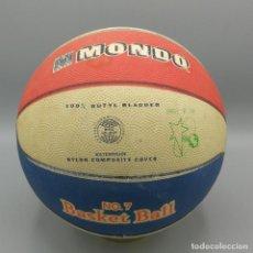 Juguetes antiguos y Juegos de colección: PELOTA DE BALONCESTO MONDO OFFICIAL Nº 7 BASKET BALL BALON AÑOS 70. Lote 193669170