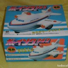Juguetes antiguos y Juegos de colección: AVIÓN BOING 747 JAPAN AIR LINES, SALVAOBSTACULOS, LUCES, FUNCIONA, AÑO 1988, NUEVO SIN USAR.. Lote 193842807