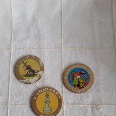 Juguetes antiguos y Juegos de colección: 3 TAZOS GOLD CAPS. Lote 193918345