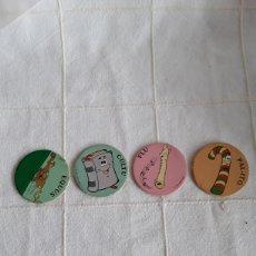 Juguetes antiguos y Juegos de colección: 4 TAZOS SUPER CAPS. Lote 193918471