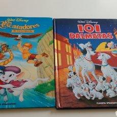 Juguetes antiguos y Juegos de colección: LIBROS LOS RESCATADORES Y 101 DALMATAS,. Lote 194132038