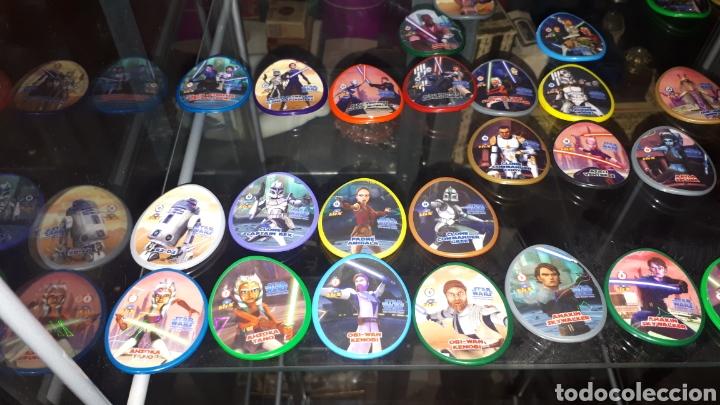 Juguetes antiguos y Juegos de colección: Lote 31 tazos diferentes STAR WARS - Foto 2 - 194230366