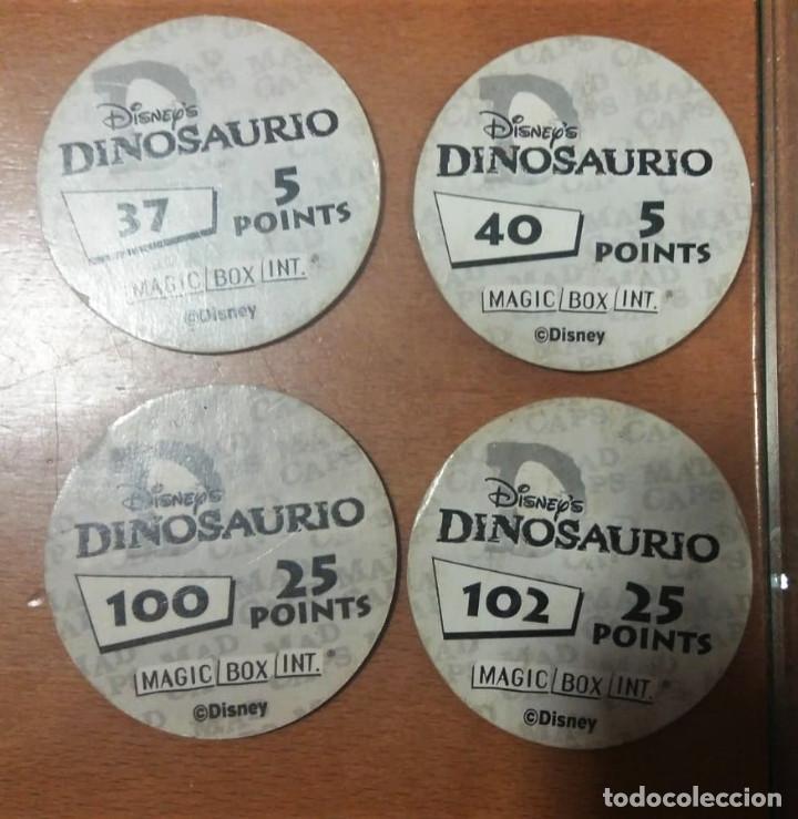 Juguetes antiguos y Juegos de colección: Tazos Dinosaurio Magic Box Int. Disney nº 37 40 100 102 - Foto 2 - 194238222