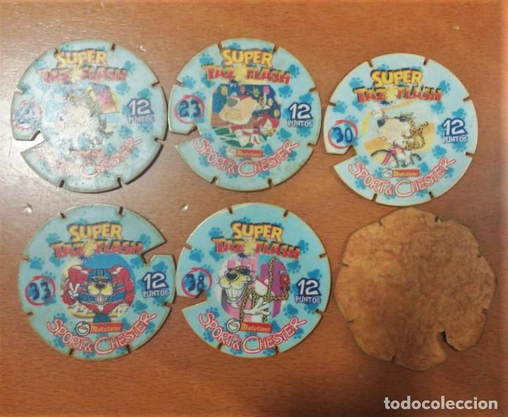 Juguetes antiguos y Juegos de colección: 6 Tazos Super Tazo Flash Sports & Chester Magic Box Int. Matutano - Foto 2 - 194238438