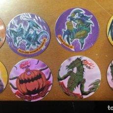 Juguetes antiguos y Juegos de colección: 8 TAZOS DUEL MAGIC BOX INT. TOEI. Lote 194240451