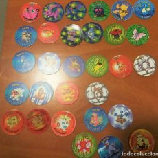 Juguetes antiguos y Juegos de colección: 30 TAZOS POKEMON STICKER ATTACK TAZOS 2 3 MATUTANO. Lote 194243121