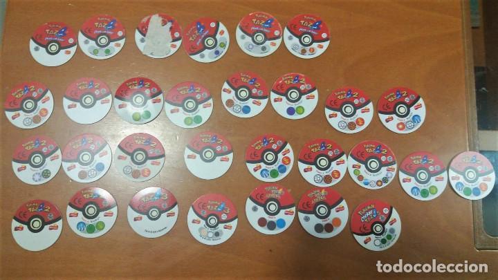 Juguetes antiguos y Juegos de colección: 30 Tazos Pokemon Sticker Attack Tazos 2 3 Matutano - Foto 2 - 194243121