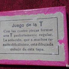 Juguetes antiguos y Juegos de colección: JUEGO DE INGENIO PARA FORMAR LA LETRA T. Lote 194276782