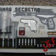 Juguetes antiguos y Juegos de colección: COFRE CON PISTOLAS ARMAS SECRETAS UNA DE EL SANTO - JEFE. Lote 194331830