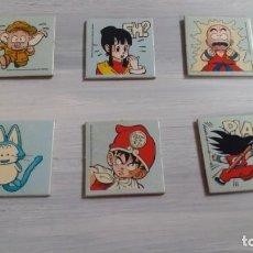 Juguetes antiguos y Juegos de colección: LOTE CROMOS SON GOKU MATUTANO FLUORESCENTES. Lote 194332374