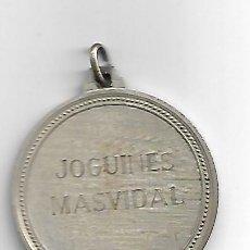 Juguetes antiguos y Juegos de colección: MEDALLA JOGUINES MASVIDAL -GAVA 1986. Lote 194333168
