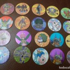 Juguetes antiguos y Juegos de colección: TAZOS DIGIMON, 25 IMAGENES. Lote 194339778