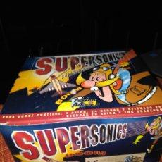 Juguetes antiguos y Juegos de colección: CAJA AVIONES FULMINANTES 30 SOBRES SIN ABRIR SUPERSONICS PEDRO MIRAS AÑOS 90 BLISTER. Lote 194345812