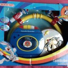 Juguetes antiguos y Juegos de colección: CASSETTE RECORDER 2 MICROS LOONEY TUNES. BONTEMPI 2002.. Lote 194402520